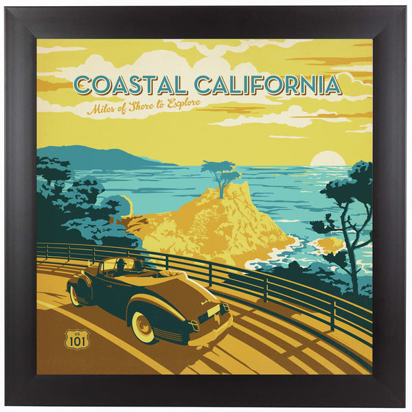 Coastal Ca by Anderson Design Group Framed Print