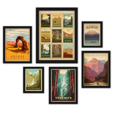 U.S. National Parks by Anderson Design Group Framed Art Set - Art Set - Americanflat