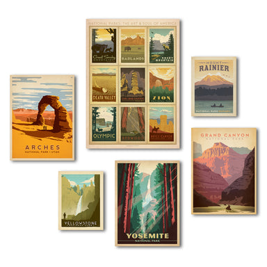 U S National Parks By Anderson Design Group Canvas Art Set Americanflat