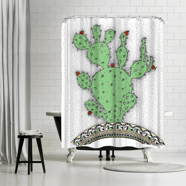 Cactus by Patricia Pino Shower Curtain