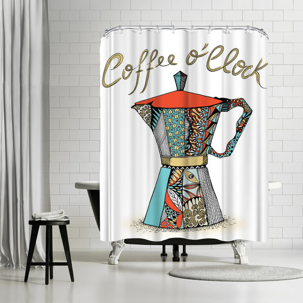Coffee Oclock by Patricia Pino Shower Curtain