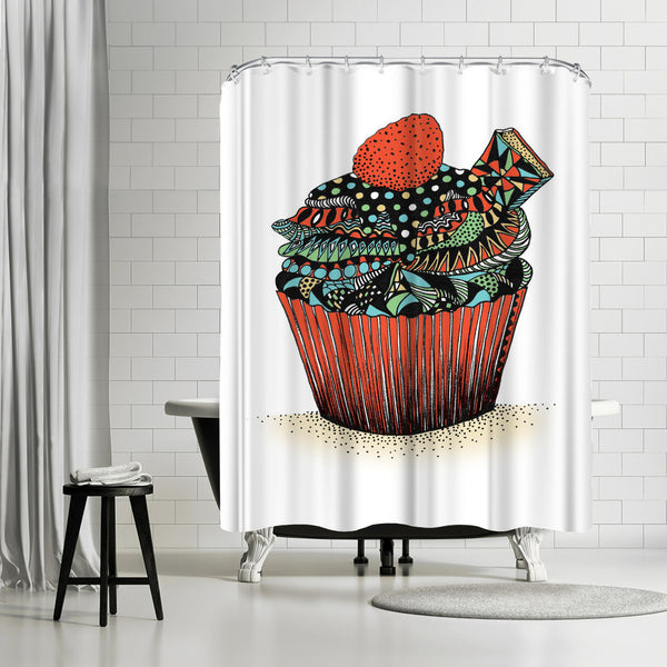 Cupcake by Patricia Pino Shower Curtain