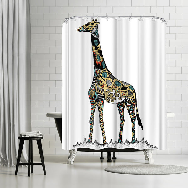 Giraffe by Patricia Pino Shower Curtain
