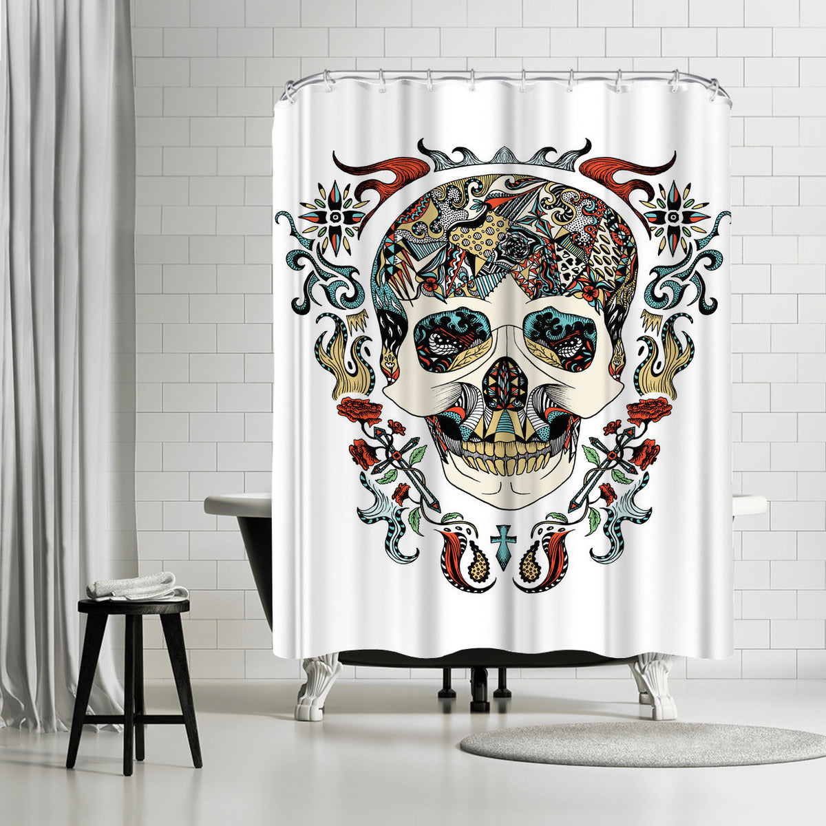 Skull by Patricia Pino Shower Curtain -  - Americanflat