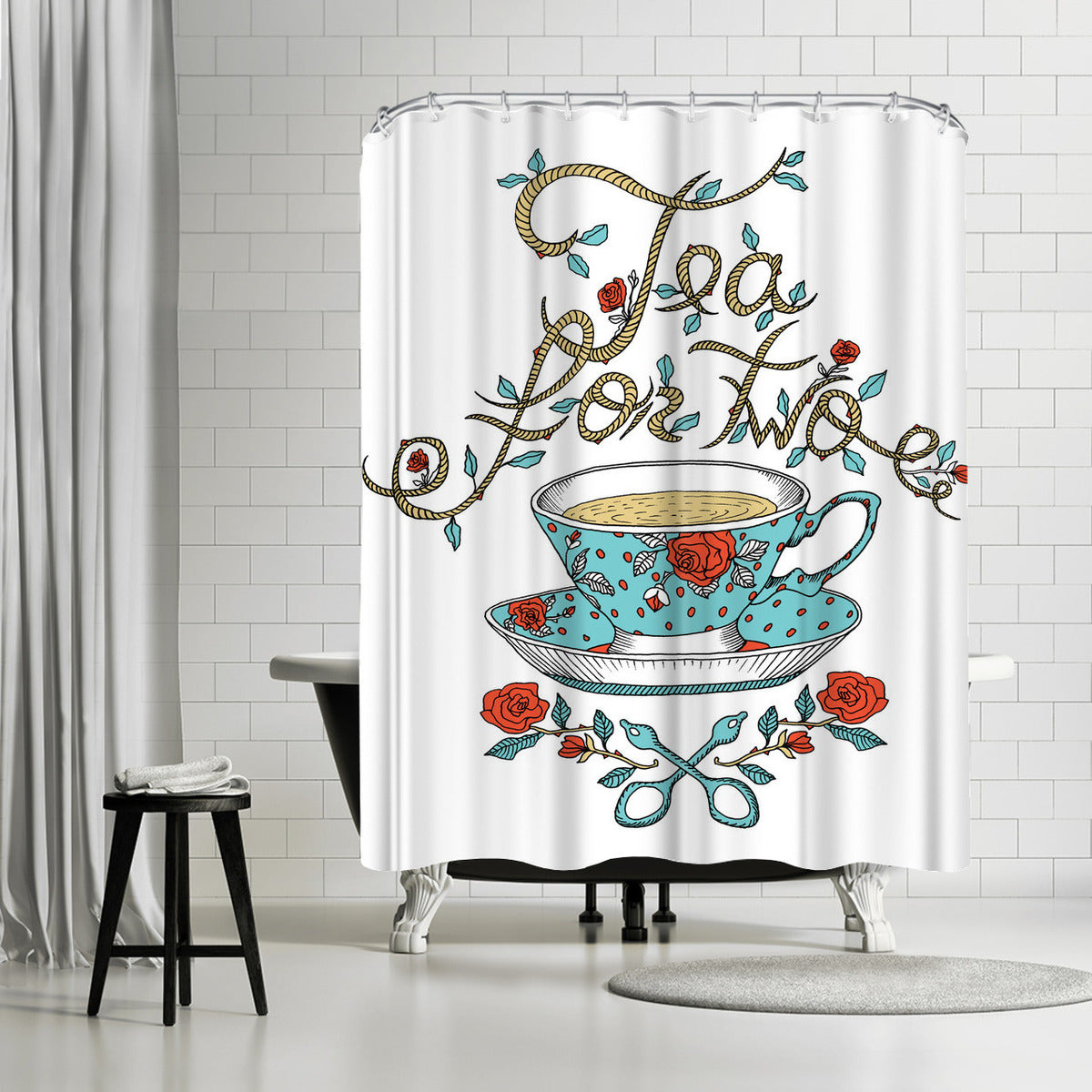 Tea For Two by Patricia Pino Shower Curtain -  - Americanflat