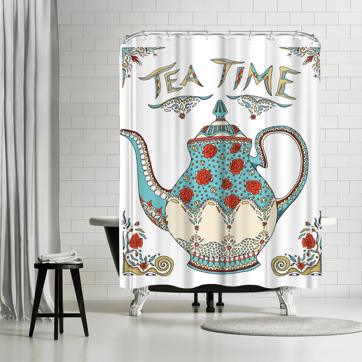 Teatime by Patricia Pino Shower Curtain -  - Americanflat