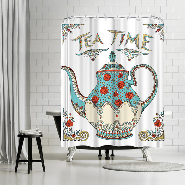 Teatime by Patricia Pino Shower Curtain