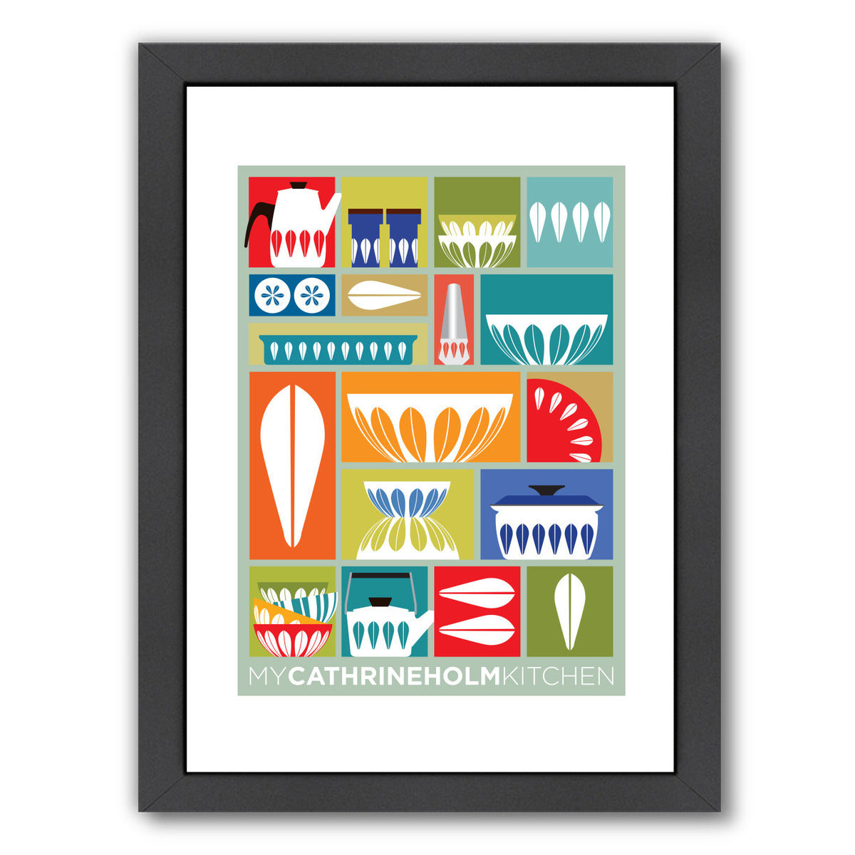 My Cathrineholm Kitchen by Visual Philosophy Framed Print - Wall Art - Americanflat