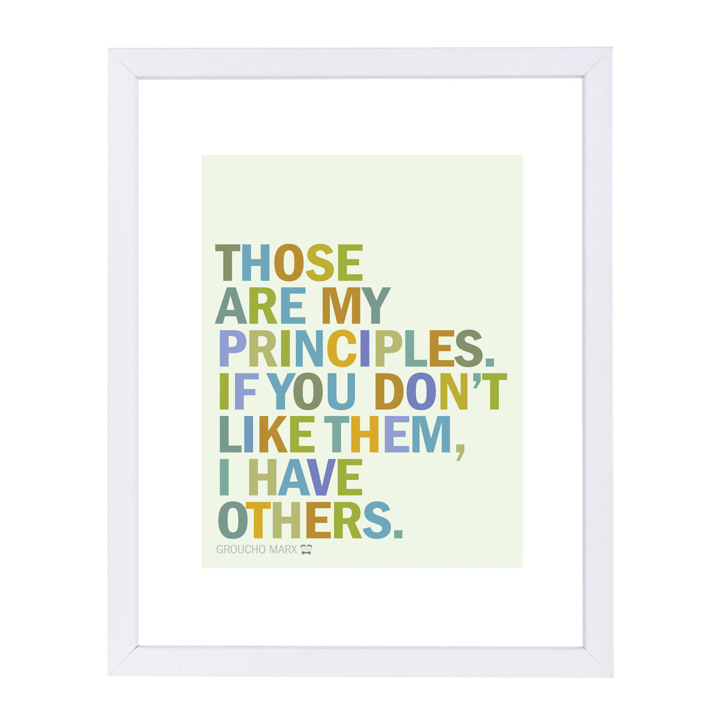 Groucho Principles by Visual Philosophy Framed Print - Americanflat