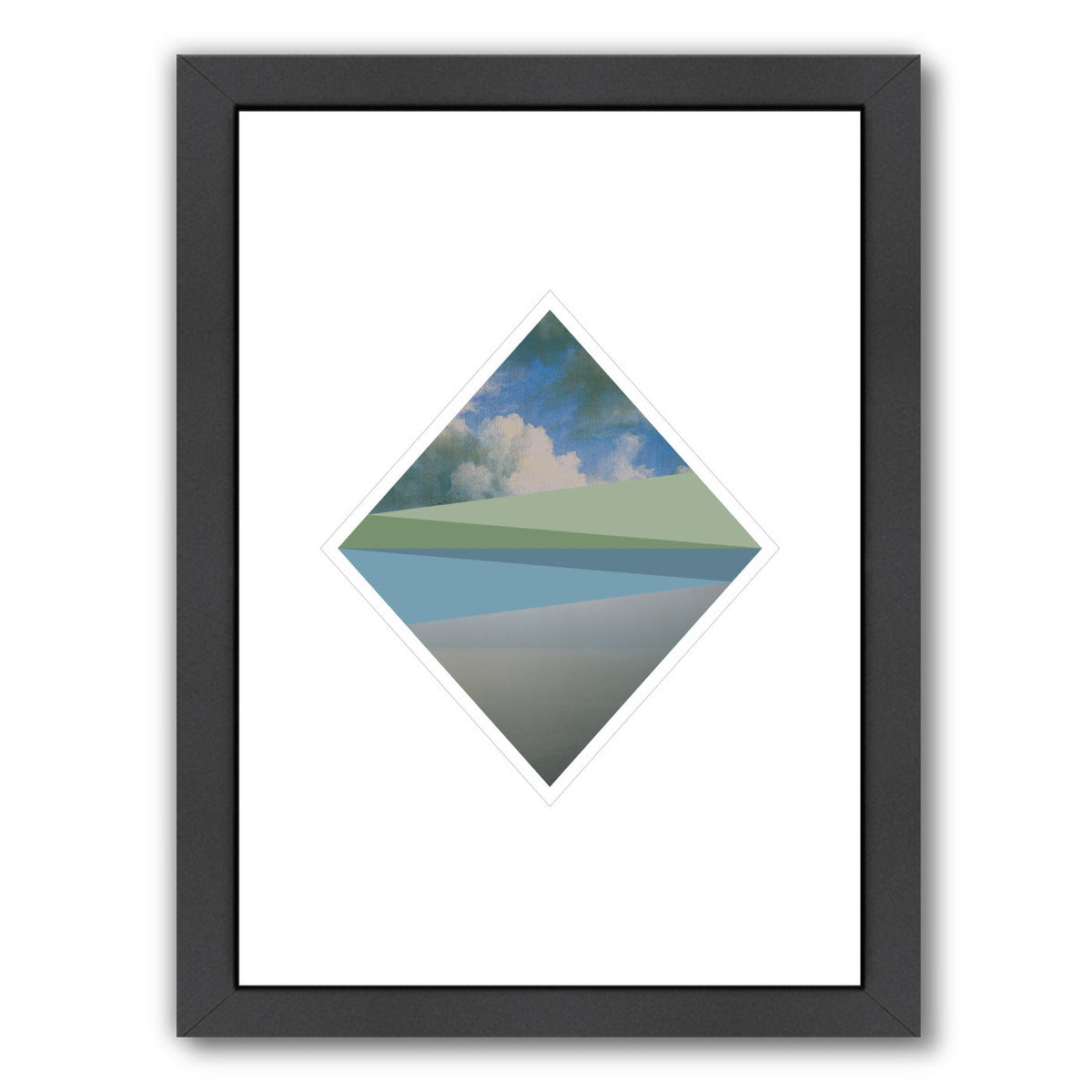 Landscape Diamond by Visual Philosophy Framed Print - Americanflat