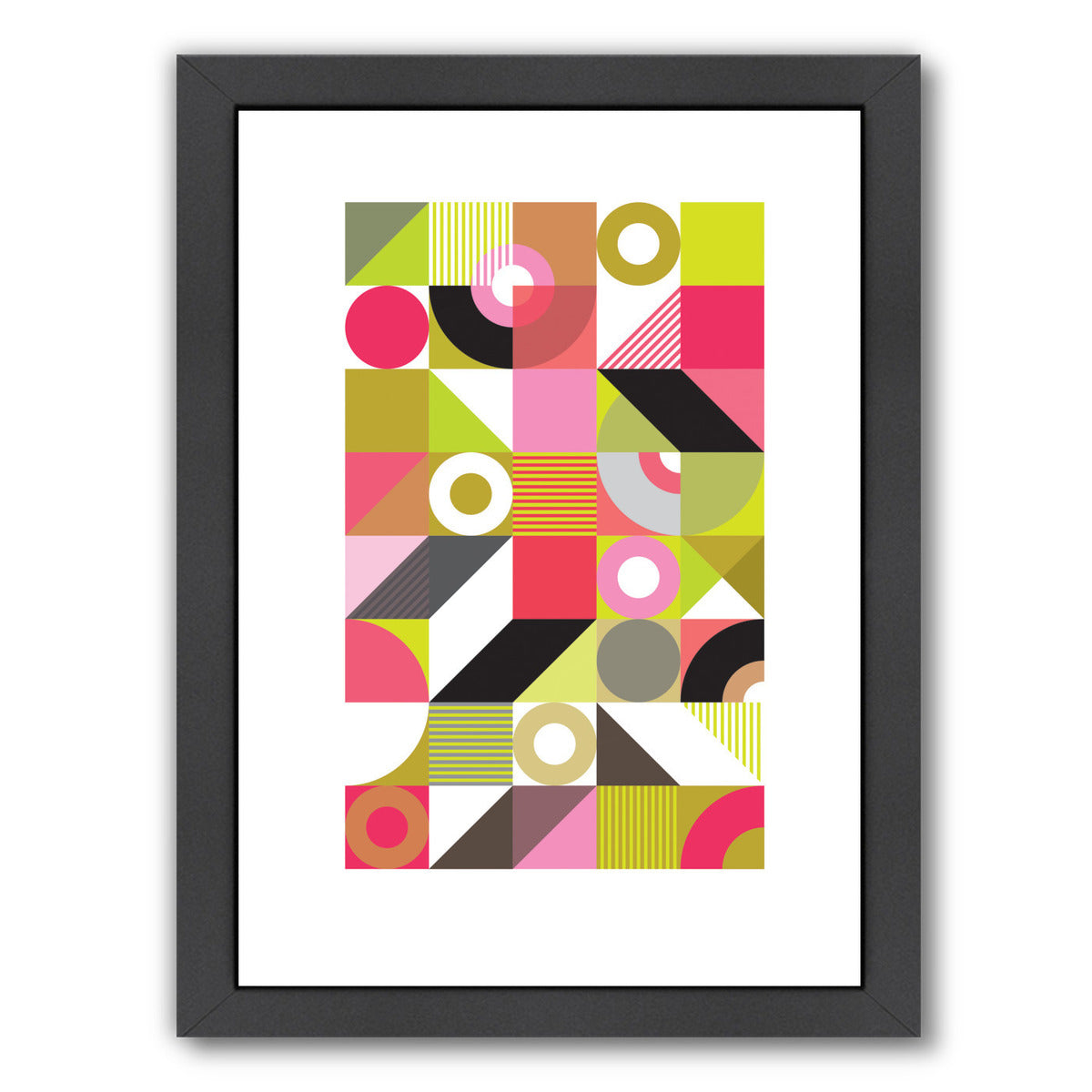 Midcentury Harlequin by Visual Philosophy Framed Print - Wall Art - Americanflat