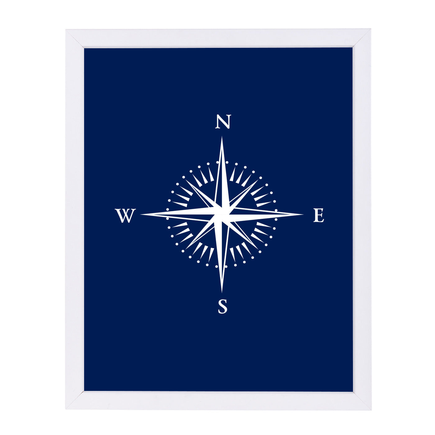 Nautical Equipment 2 Navy by Samantha Ranlet Framed Print - Wall Art - Americanflat