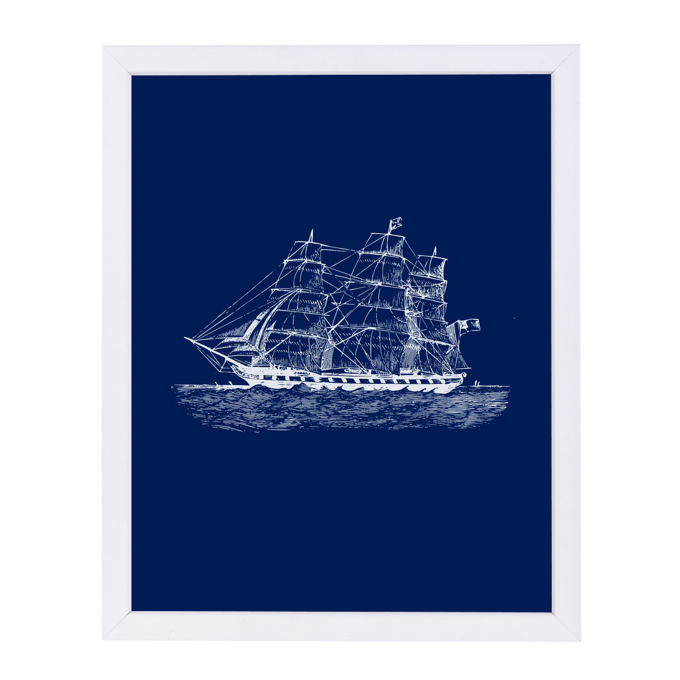 Nautical Equipment 3 Navy by Samantha Ranlet Framed Print - Americanflat