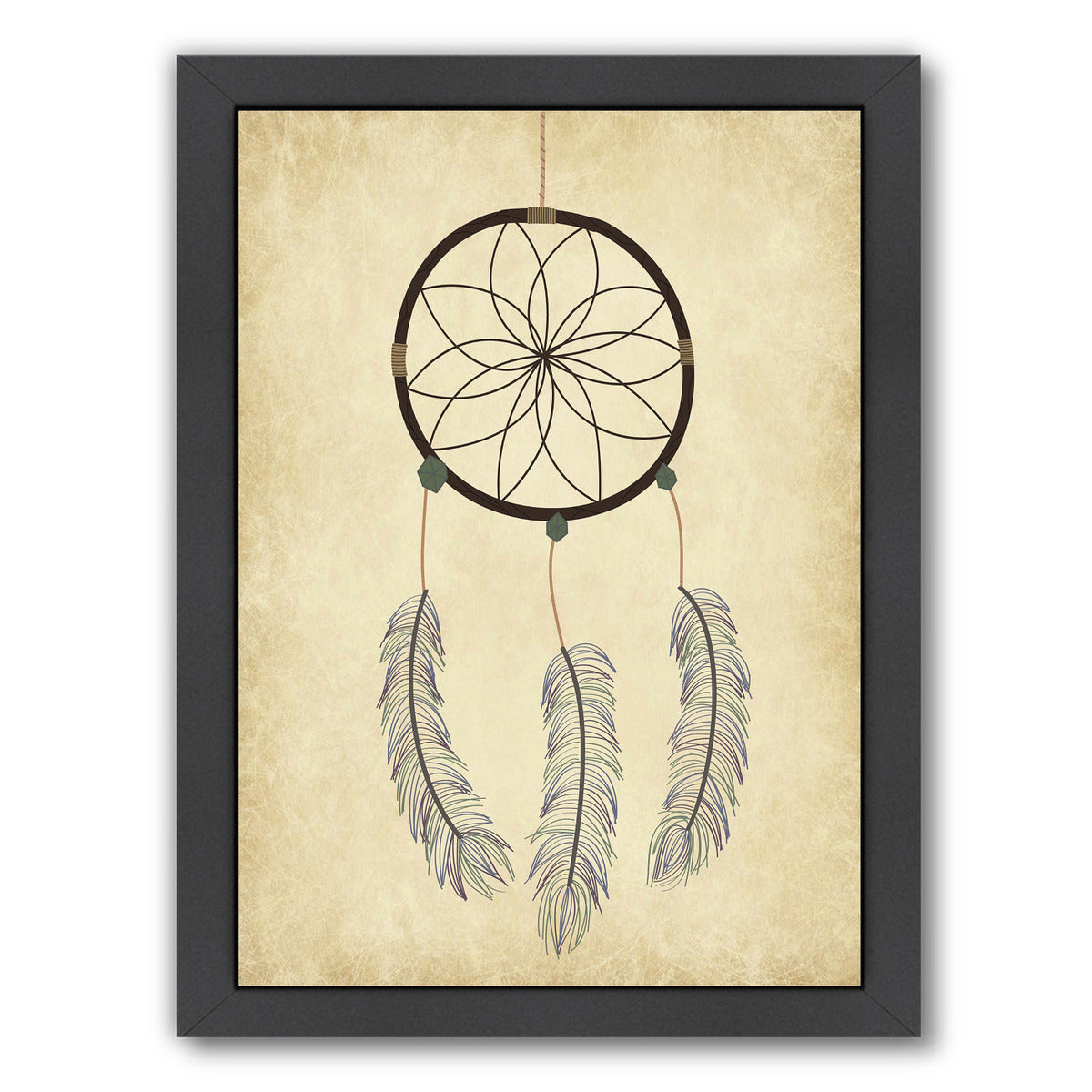 Dream Catcher On Papyrus by Samantha Ranlet Framed Print - Americanflat