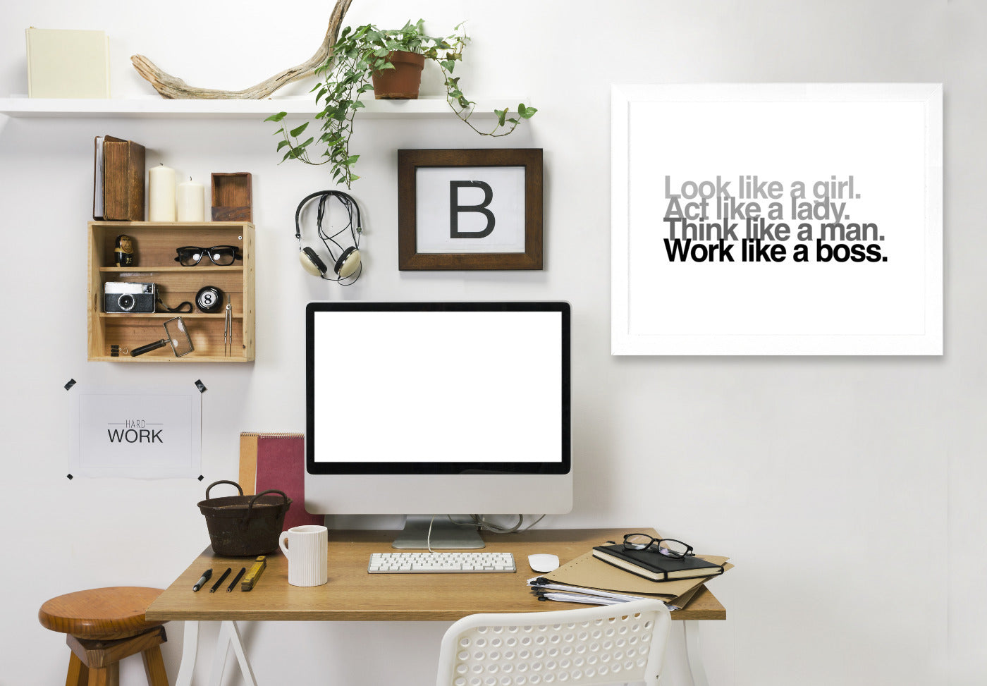 Look Act Think Work by Samantha Ranlet Framed Print - Wall Art - Americanflat