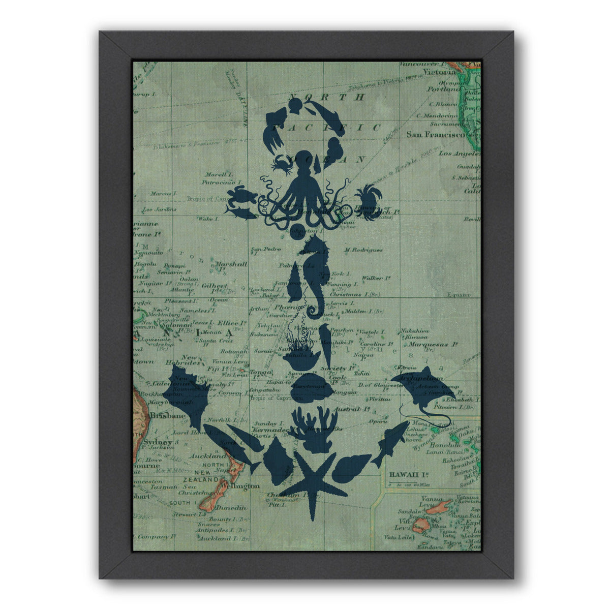 Map Anchor by Samantha Ranlet Framed Print - Wall Art - Americanflat