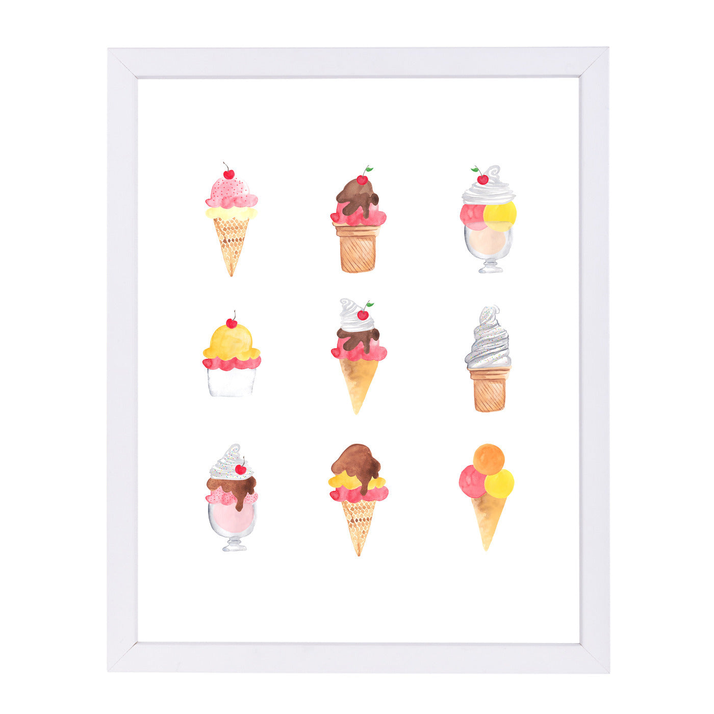 Ice Cream Dreams by Samantha Ranlet Framed Print - Americanflat