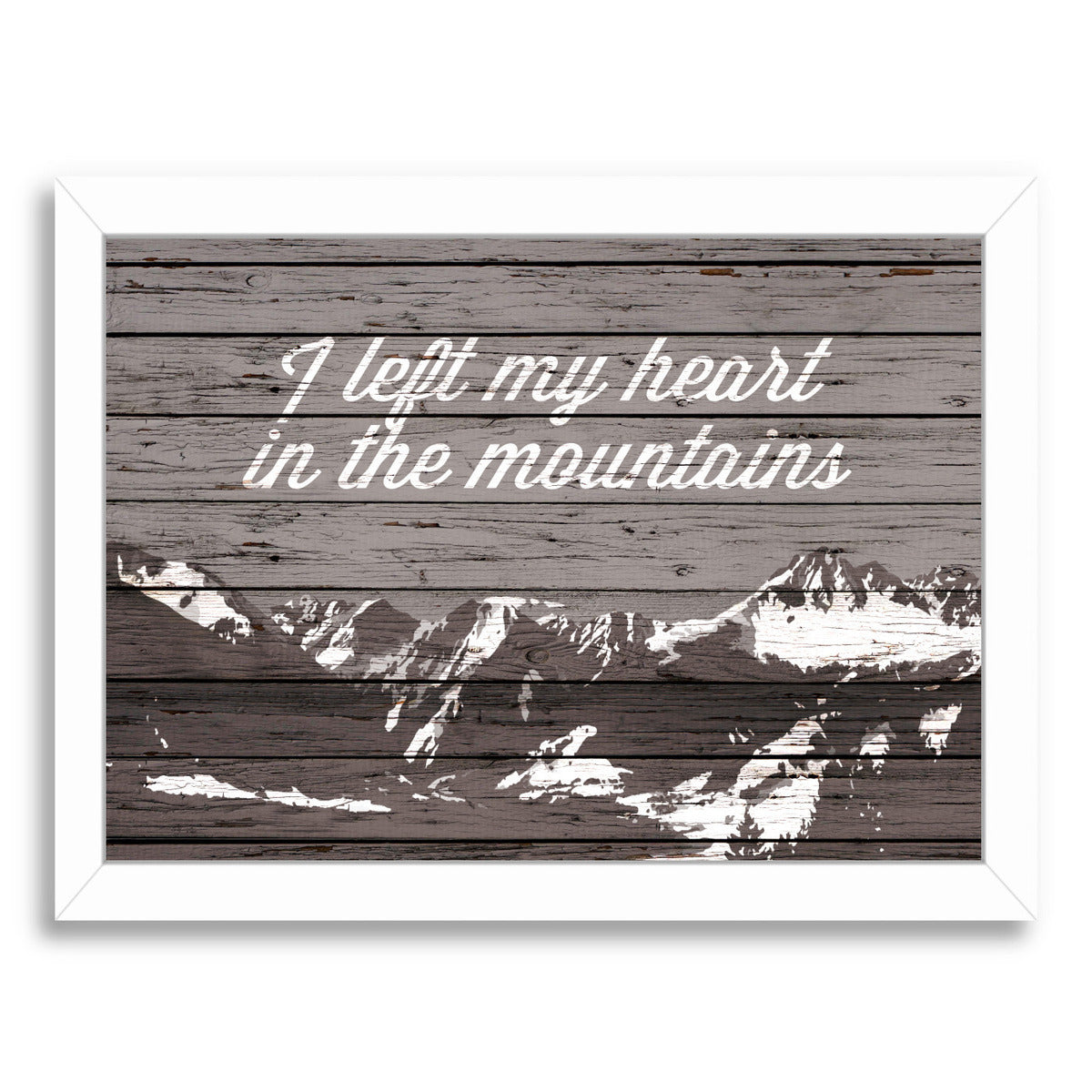I Left My Heart In The Mountains by Samantha Ranlet Framed Print - Wall Art - Americanflat