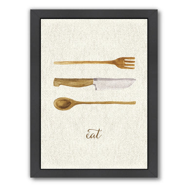 Linen Kitchen Trio B by Samantha Ranlet Framed Print - Wall Art - Americanflat
