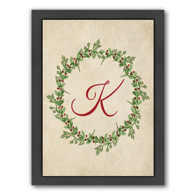 Christmas Wreath K by Samantha Ranlet Framed Print - Wall Art - Americanflat