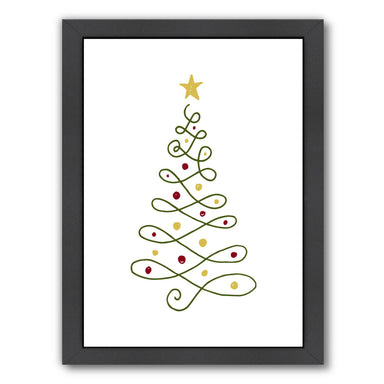 Hand Lettered Christmas Tree by Samantha Ranlet Framed Print - Wall Art - Americanflat