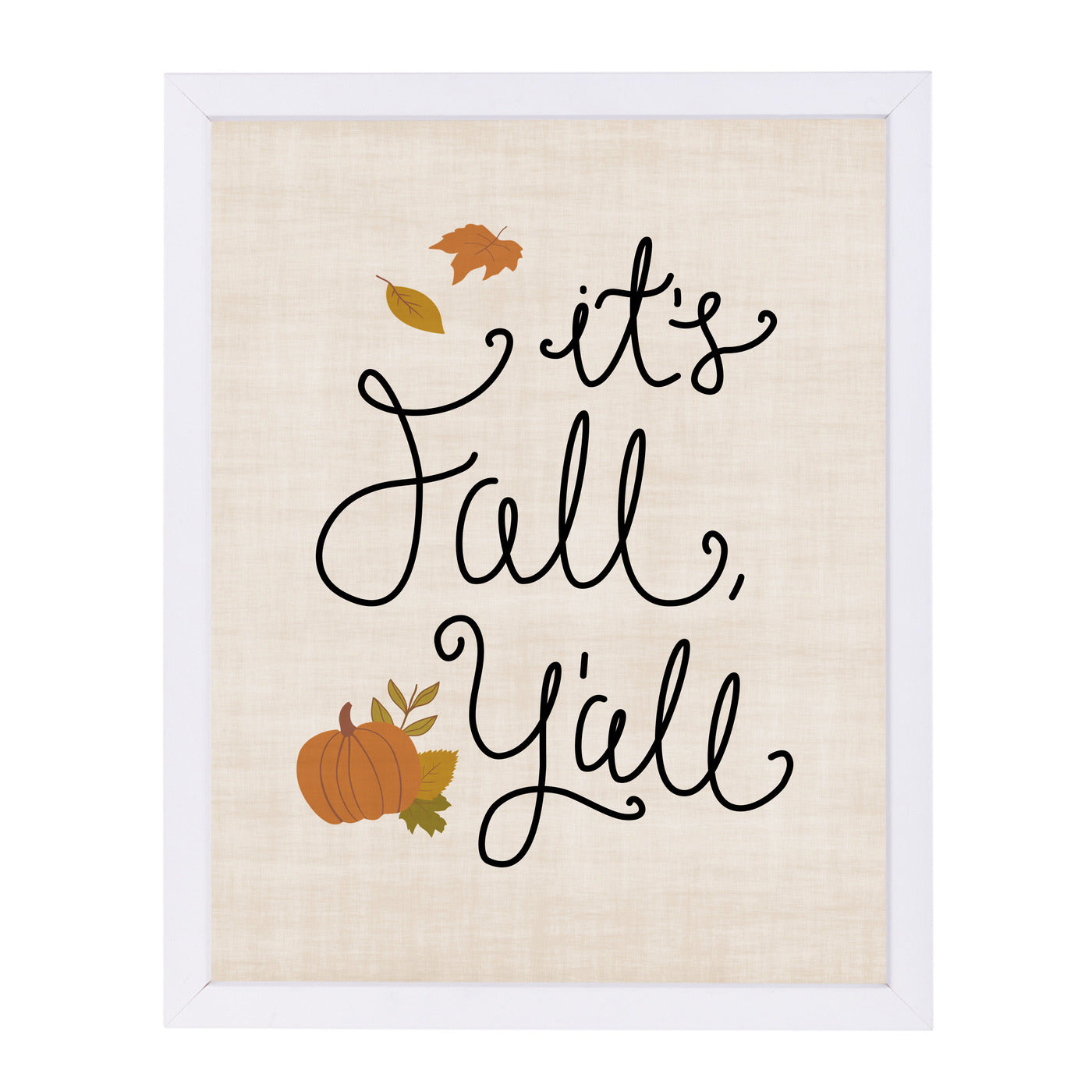 It S Fall Y All Linen by Samantha Ranlet Framed Print - Wall Art - Americanflat
