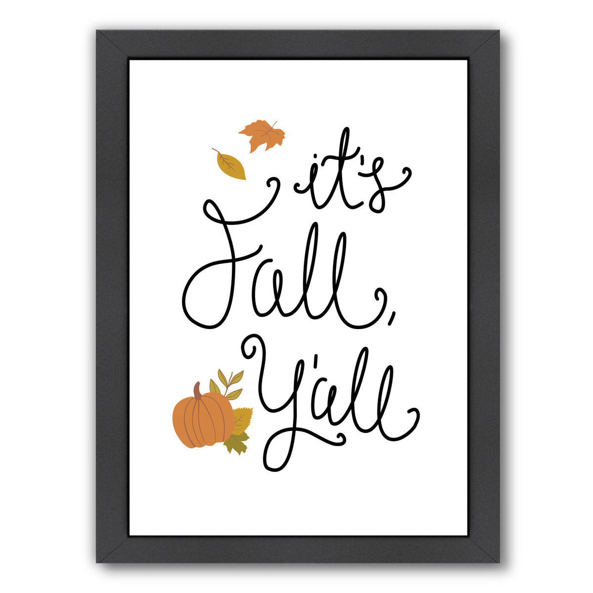 It S Fall Y All White by Samantha Ranlet Framed Print - Wall Art - Americanflat