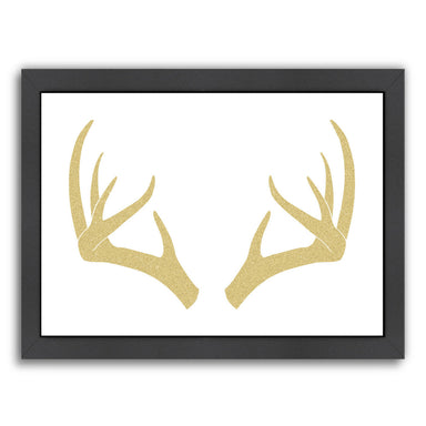 Matte Antlers Gold by Samantha Ranlet Framed Print - Wall Art - Americanflat