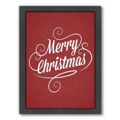 Merry Christmas Crimson Jpg by Samantha Ranlet Framed Print - Wall Art - Americanflat