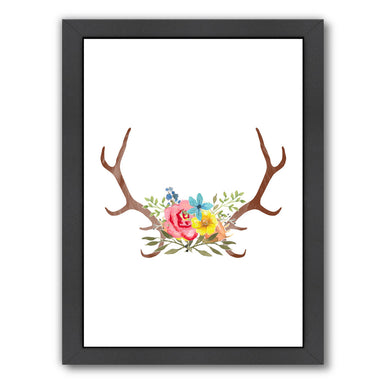Floral Antlers by Samantha Ranlet Framed Print - Wall Art - Americanflat