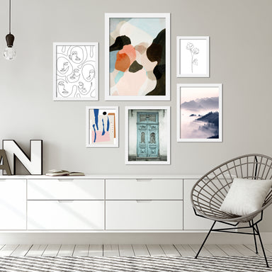 Contemporary Mixed-Art Framed Gallery Wall Set - Art Set - Americanflat