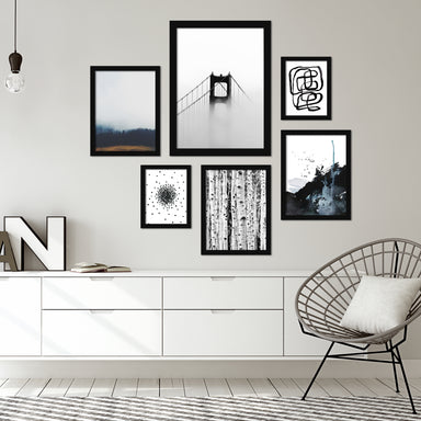 Modern Mist Framed Gallery Wall Set - Art Set - Americanflat