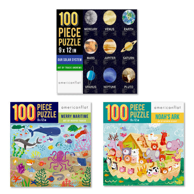 Kid's Puzzle Bundle: Set of 3 Jigsaw Puzzles - Bundle - Americanflat