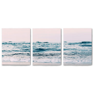 3 Piece Framed Triptych Ocean Sun by Sisi and Seb