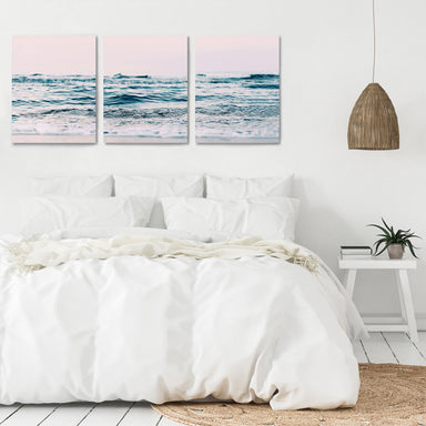 Ocean Sun by Sisi and Seb - 3 Piece Canvas Triptych - Americanflat