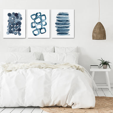 Watercolor Shapes by Lisa Nohren - 3 Piece Canvas Triptych - Americanflat