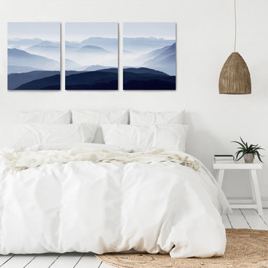 Panoramic Mountains by Tanya Shumkina - 3 Piece Canvas Triptych - Americanflat