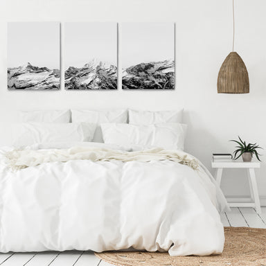Snowy Mountain Caps by Tanya Shumkina - 3 Piece Canvas Triptych - Americanflat