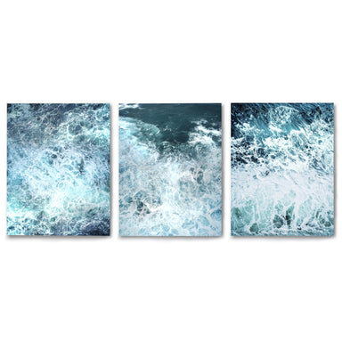 3 Piece Framed Triptych Stormy Ocean Waves by Tanya Shumkina