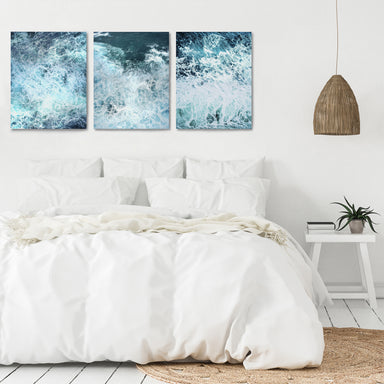 Stormy Ocean Waves by Tanya Shumkina - 3 Piece Canvas Triptych - Americanflat
