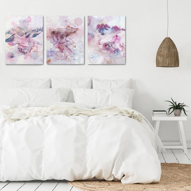 Violet Watercolors by Hope Bainbridge - 3 Piece Canvas Triptych - Americanflat