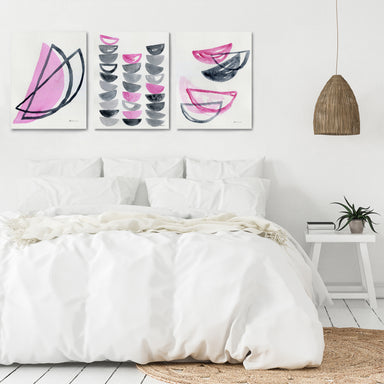 Pink Slices by Dreamy Me - 3 Piece Canvas Triptych - Americanflat