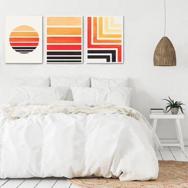 Sunset Strokes by Ejaaz Haniff - 3 Piece Canvas Triptych - Americanflat