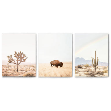 3 Piece Framed Triptych Neutral Southwest by Sisi and Seb