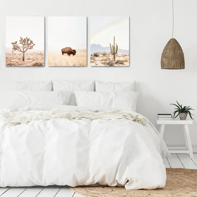 Neutral Southwest by Sisi and Seb - 3 Piece Canvas Triptych - Americanflat