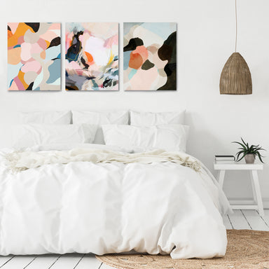 Peachy Paintings by Louise Robinson - 3 Piece Canvas Triptych - Americanflat