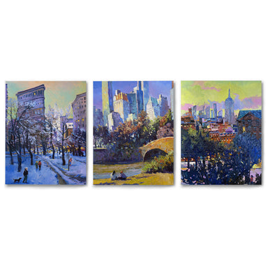 3 Piece Framed Triptych New York Sightseeing by Suren Nersisyan