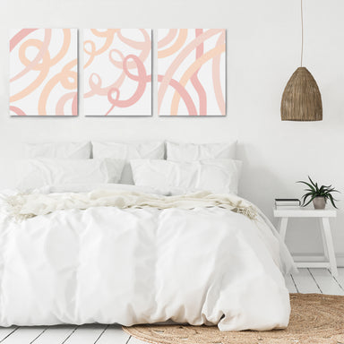 Pink Ribbons by Amy Brinkman - 3 Piece Canvas Triptych - Americanflat