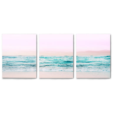 3 Piece Framed Triptych Pastel Beaches by Tanya Shumkina