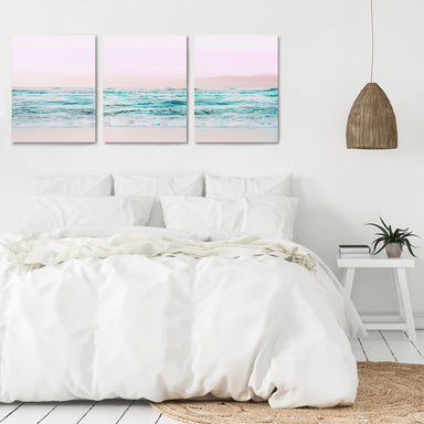 Pastel Beaches by Tanya Shumkina - 3 Piece Canvas Triptych - Americanflat
